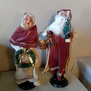 "Byers Choice Santa & Mrs. Claus 12"""